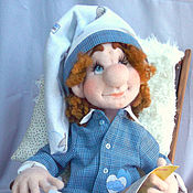 Куклы и игрушки ручной работы. Ярмарка Мастеров - ручная работа Интерьерная кукла-Перед сном. Handmade.