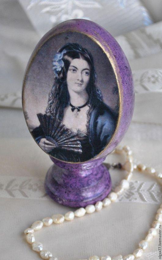 """Яйца ручной работы. Ярмарка Мастеров - ручная работа. Купить Яйцо сувенирное """"Лола"""". Handmade. Тёмно-фиолетовый, яйцо"""