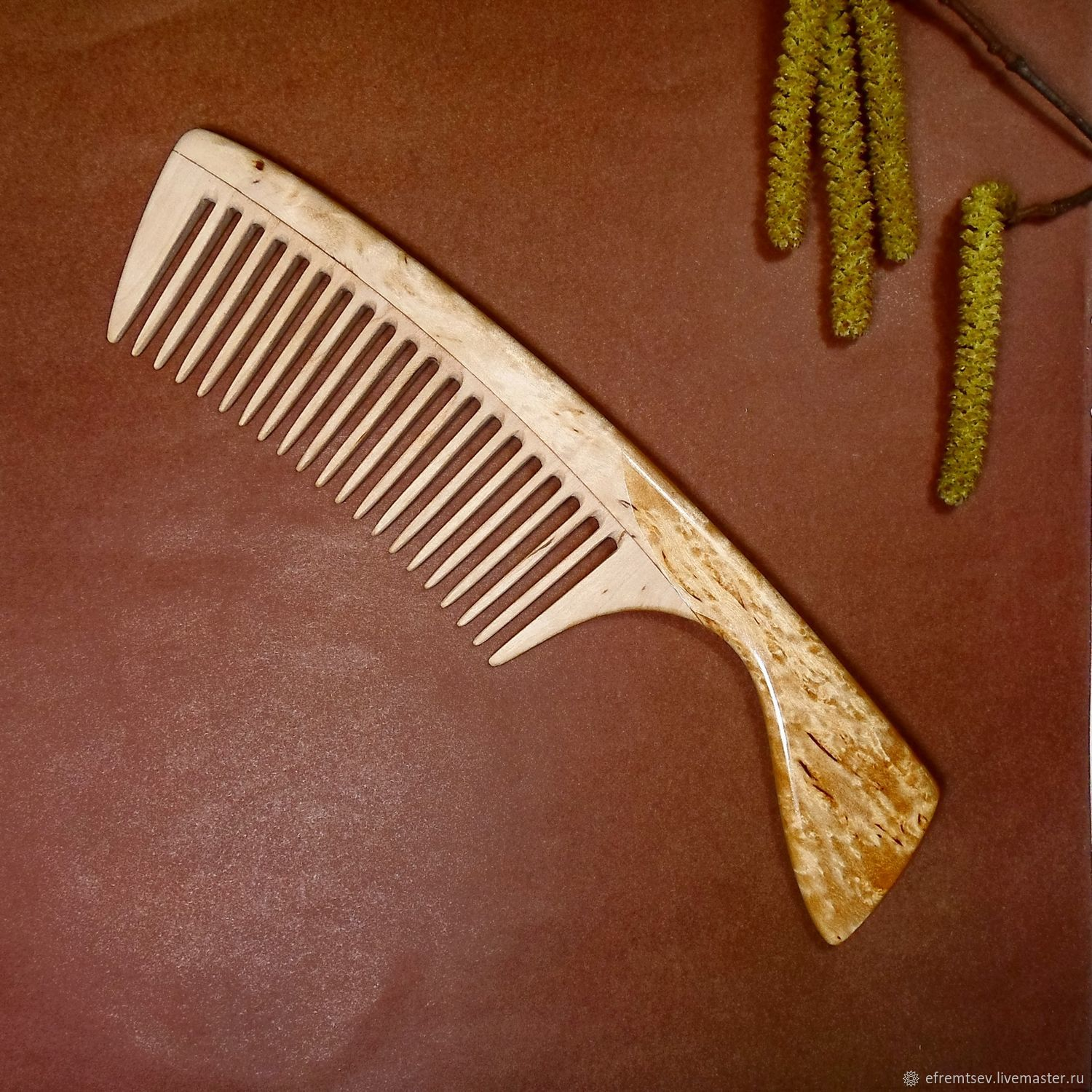 Combs & Hairbrushes handmade. Livemaster - handmade. Buy Comb4 from karelka Fleur.Wooden comb, spinel pink