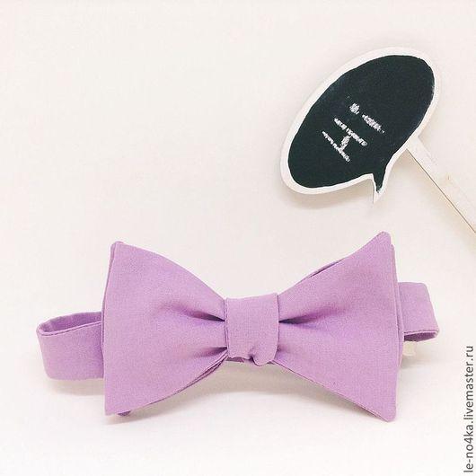 Галстуки, бабочки ручной работы. Ярмарка Мастеров - ручная работа. Купить Галстук-бабочка «Лаванда». Handmade. Сиреневый, галстук-бабочка