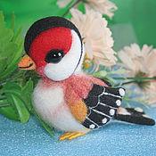 Куклы и игрушки ручной работы. Ярмарка Мастеров - ручная работа Щегол Шани (птичка игрушка). Handmade.