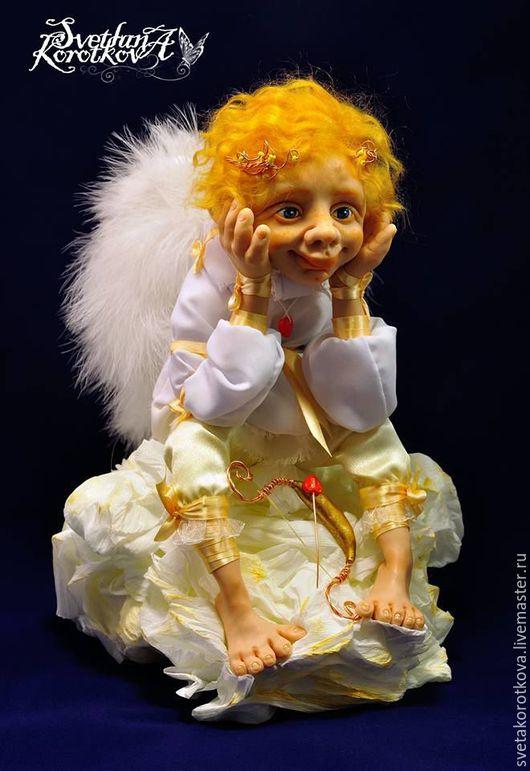 Коллекционные куклы ручной работы. Ярмарка Мастеров - ручная работа. Купить Купидон. Handmade. Белый, облако, запекаемый пластик