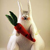 """Куклы и игрушки ручной работы. Ярмарка Мастеров - ручная работа Зайка """"Моя Любовь,моя Морковь"""". Handmade."""