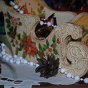 Подарки к праздникам handmade. Livemaster - original item Sleigh Christmas. Handmade.