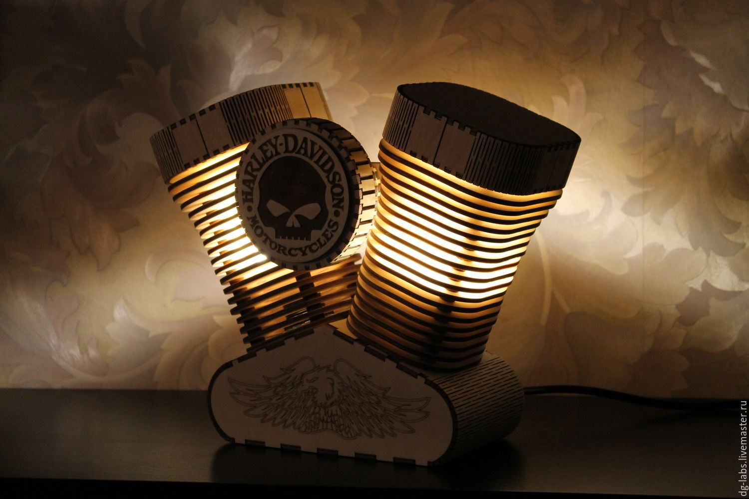 Lamps with night light - Order Lamp Night Light Harley Davidson Dg Labs Livemaster