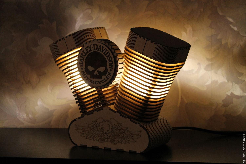 Order Lamp Night Light Harley Davidson. DG Labs. Livemaster.
