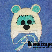 """Работы для детей, ручной работы. Ярмарка Мастеров - ручная работа шапка """"Медвежонок"""". Handmade."""