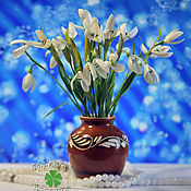 """Цветы и флористика ручной работы. Ярмарка Мастеров - ручная работа Букетик из полимерной глины """"Весна для тебя"""". Handmade."""