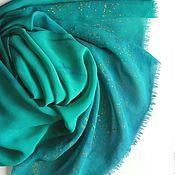 Аксессуары ручной работы. Ярмарка Мастеров - ручная работа Шарф Травинки шелковый шифон зеленый. Handmade.