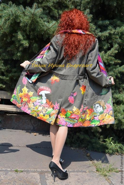 """Верхняя одежда ручной работы. Ярмарка Мастеров - ручная работа. Купить Пальто """"Ежик в осеннем лесу"""". Handmade. Разноцветный, осень"""