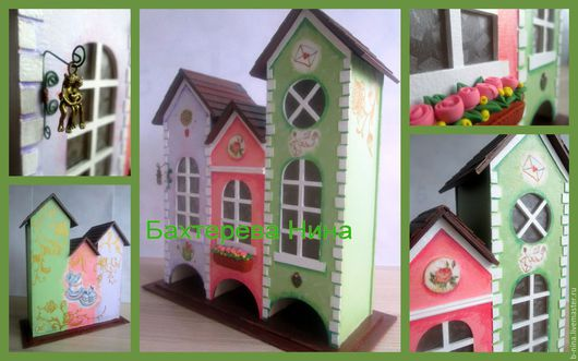 """Кухня ручной работы. Ярмарка Мастеров - ручная работа. Купить Чайный домик """"Европейский"""". Handmade. Разноцветный, для любимых, картон"""