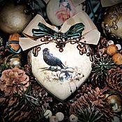 """Подарки к праздникам ручной работы. Ярмарка Мастеров - ручная работа """"Птичий базар"""" Новогодний набор подвесок из керамики. Handmade."""