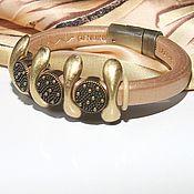 Украшения handmade. Livemaster - original item Bracelet leather Regaliz Bronze Age. Handmade.