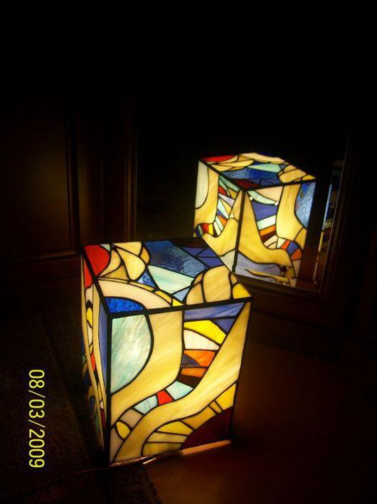 Освещение ручной работы. Ярмарка Мастеров - ручная работа. Купить Витражные светильники. Handmade. Светильник, лампа