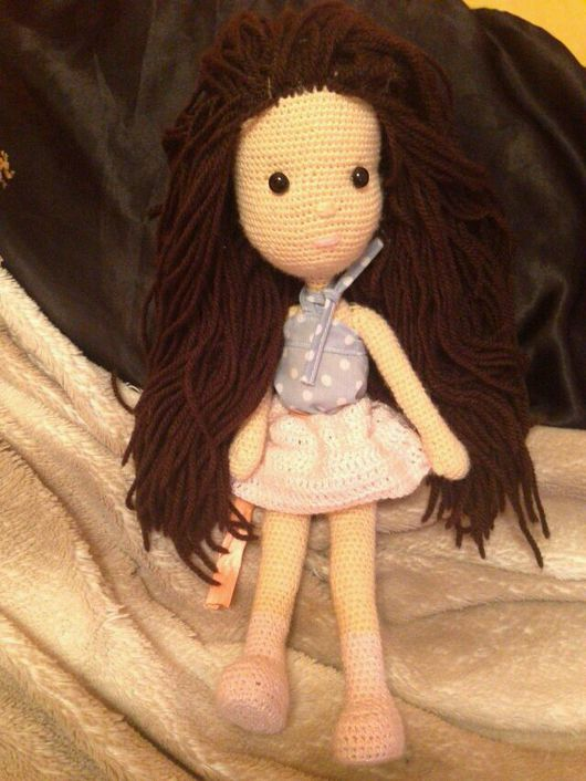 Человечки ручной работы. Ярмарка Мастеров - ручная работа. Купить Вязаная кукла Соня. Handmade. Вязание крючком, кукла