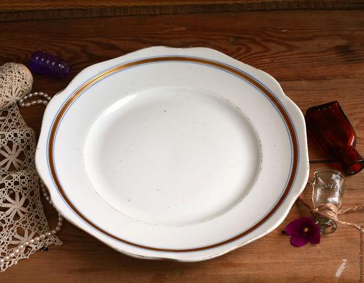 Винтажная посуда. Ярмарка Мастеров - ручная работа. Купить Тарелка большая 20-е  Пролетарий, Бронницы. Handmade. Комбинированный, пролетарий