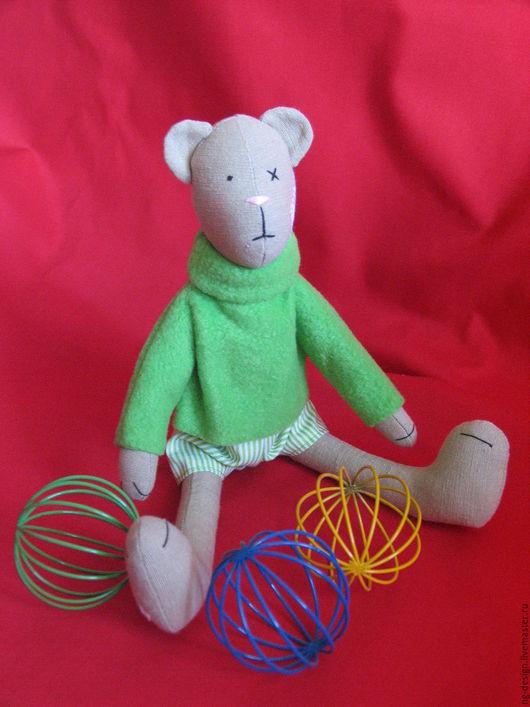 Мишки Тедди ручной работы. Ярмарка Мастеров - ручная работа. Купить Медвежонок Teddy. Handmade. Зеленый, мишки тедди