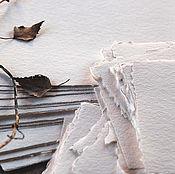 Материалы для творчества ручной работы. Ярмарка Мастеров - ручная работа Хлопковая бумага ручной работы для  акварели и каллиграфии. Handmade.