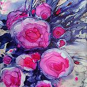 Картины и панно handmade. Livemaster - original item Painting with alcohol ink Abstract with colors Alcohol ink. Handmade.