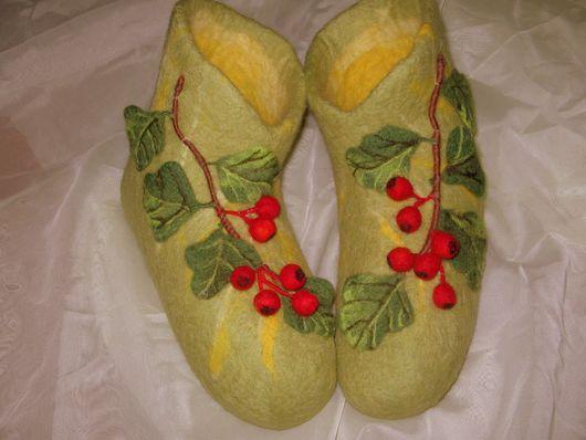 """Обувь ручной работы. Ярмарка Мастеров - ручная работа. Купить Валеночки """"Боярышник"""". Handmade. Шерсть"""