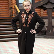"Одежда handmade. Livemaster - original item Knitted coat ""Oriental ornament"" chocolate. Handmade."