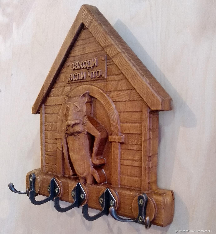 """Прихожая ручной работы. Ярмарка Мастеров - ручная работа. Купить Ключница""""Пёс"""". Handmade. Ключница, подарок мужчине, предмет интерьера"""