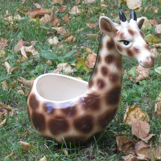 """Кашпо ручной работы. Ярмарка Мастеров - ручная работа. Купить Зоокашпо """"Жираф"""". Handmade. Комбинированный, кашпо, кашпо для цветов, жираф"""