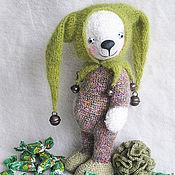 Куклы и игрушки ручной работы. Ярмарка Мастеров - ручная работа Мишка-арлекин Дюшес. Handmade.