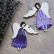 Подарки к праздникам ручной работы. Ярмарка Мастеров - ручная работа Ангелы лавандовые - белокрылые. Handmade.