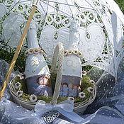 """Свадебный салон ручной работы. Ярмарка Мастеров - ручная работа """"Лёгкая жизнь"""" Свадебное декор бутылок. Handmade."""