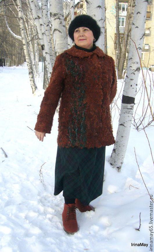 Пиджаки, жакеты ручной работы. Ярмарка Мастеров - ручная работа. Купить Жакет из флиса. Handmade. Рыжий, женская одежда