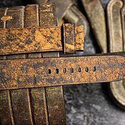 Ремни ручной работы. Ярмарка Мастеров - ручная работа Ремешок из кожи 26мм для часов Panerai. Handmade.