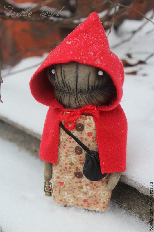 Куклы и игрушки ручной работы. Ярмарка Мастеров - ручная работа. Купить Красная шапочка.... Handmade. Ярко-красный, монстр