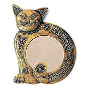 """Для дома и интерьера ручной работы. Ярмарка Мастеров - ручная работа Зеркало """"Кошка"""" 37 см. Handmade."""