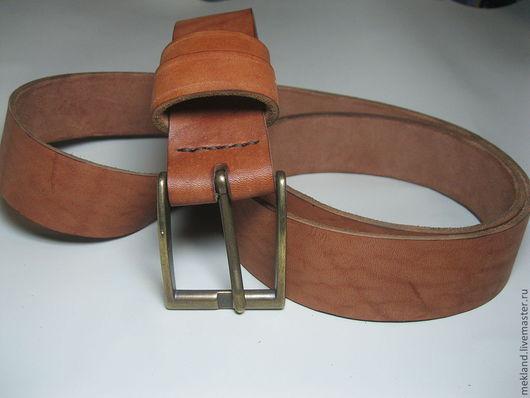 ремень кожаный ручной работы