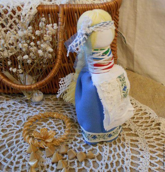 Народные куклы ручной работы. Ярмарка Мастеров - ручная работа. Купить Голубушка. Руская кукла. На замужество.. Handmade. Голубой