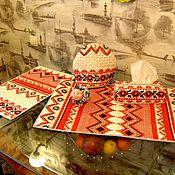 """Салфетницы ручной работы. Ярмарка Мастеров - ручная работа Лоскутный комплект на кухню """"Ярило"""". Handmade."""