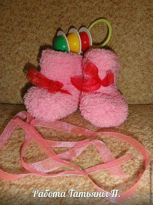 Для новорожденных, ручной работы. Ярмарка Мастеров - ручная работа. Купить Пинетки. Handmade. Пинетки для новорожденных, пинетки вязаные