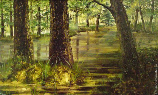 """Пейзаж ручной работы. Ярмарка Мастеров - ручная работа. Купить Картина """"Болотные духи"""". Handmade. Болотный, лес чудес, лес"""