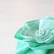 """Украшения ручной работы. Ярмарка Мастеров - ручная работа Текстильная брошь """"Бирюзовый цветок"""". Handmade."""