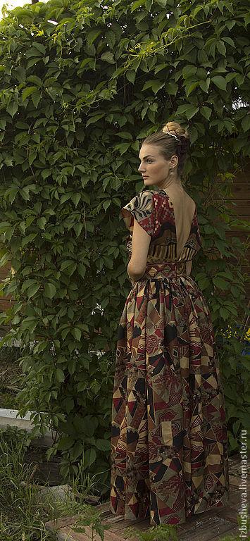 Платья ручной работы. Ярмарка Мастеров - ручная работа. Купить Платье шелковое Для королевы. Handmade. Орнамент, вечернее платье