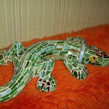 Для дома и интерьера ручной работы. Ярмарка Мастеров - ручная работа Ящерица стеклянная. Handmade.