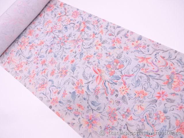 Japanese silk Crepe 'East - a delicate matter', Fabric, Chelyabinsk,  Фото №1