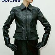 Одежда handmade. Livemaster - original item Black leather jacket for women with patch pockets.. Handmade.