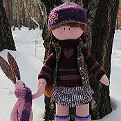 Куклы и игрушки ручной работы. Ярмарка Мастеров - ручная работа Соня с зайкой. Handmade.