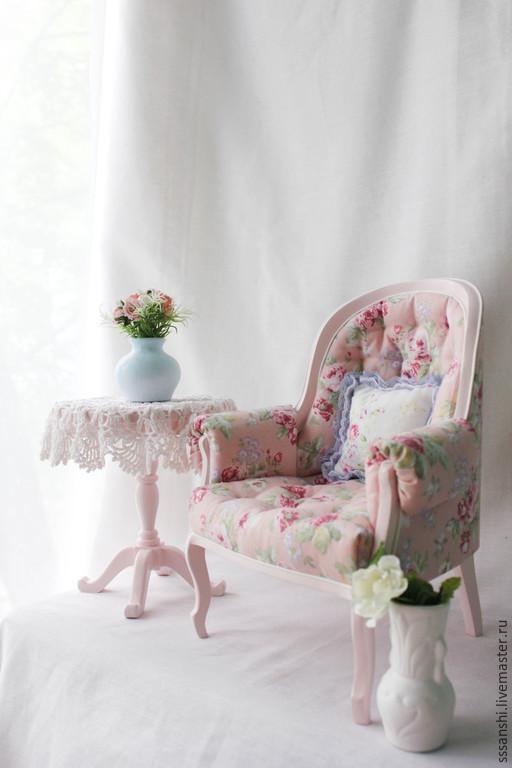 """Кукольный дом ручной работы. Ярмарка Мастеров - ручная работа. Купить Комплект мебели 1:4 """"Розовые мечты"""". Handmade."""
