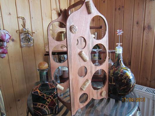 Мебель ручной работы. Ярмарка Мастеров - ручная работа. Купить Подставка для бутылок. Handmade. Переноска для бутылок, фанерная заготовка