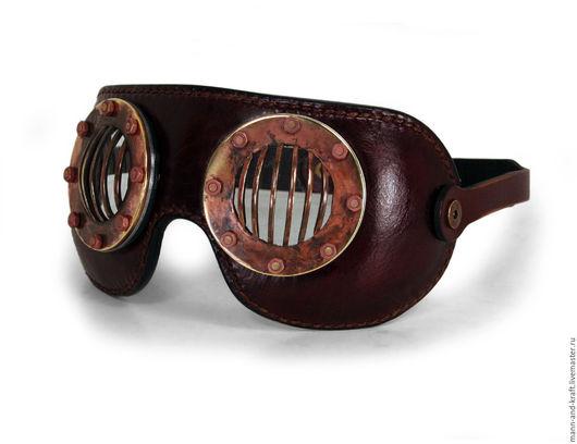 """Аксессуары ручной работы. Ярмарка Мастеров - ручная работа. Купить Очки-маска в стиле Стимпанк - """"FLATS"""" COPPER PATINA. Handmade."""