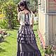 Платья ручной работы. Платье в стиле БОХО с полосатым верхом. La Provence  творческая мастерская. Интернет-магазин Ярмарка Мастеров.
