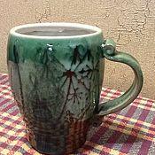 Посуда ручной работы. Ярмарка Мастеров - ручная работа Кружка с травами.. Handmade.